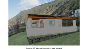 Te renoveren ruïne met panoramisch zeezicht