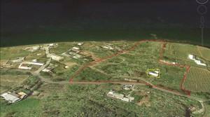 Uniek gelegen landgoed met zeezicht in Salina